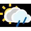 Nuboso con lluvia escasa